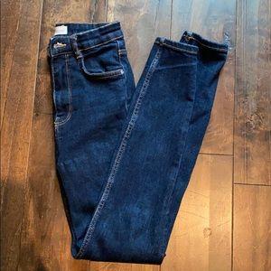 Zara TRF high rise skinny jeans